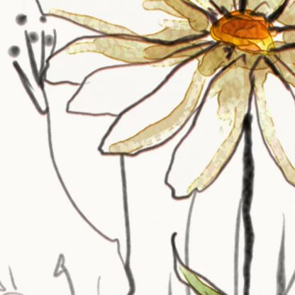 Flowers 4 Leggings Daisy drawing by Andreas12