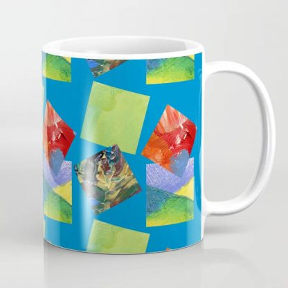 Painted Squares Jiggle - Blue Coffee Mug