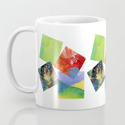 Painted squares jiggle - White Coffee Mug