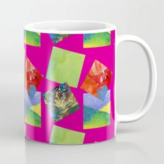 Painted Squares Jiggle - Pink Coffee Mug