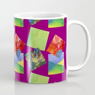 Painted Squares Jiggle - Plum Coffee Mug