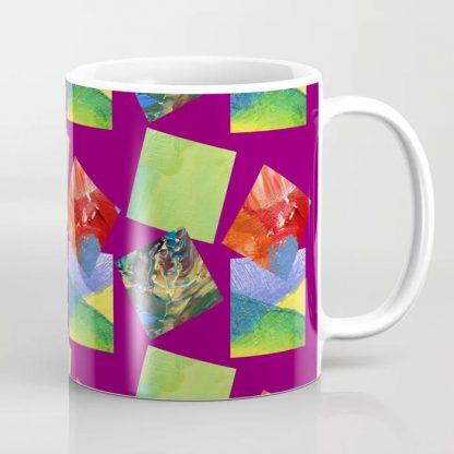Painted Squares Jiggle - Plum Coffee Mug