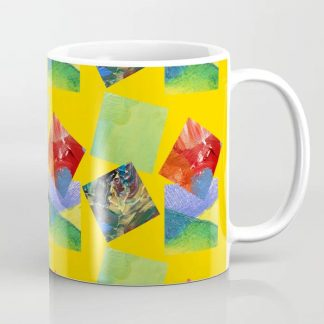 Painted Squares Jiggle - Yellow Coffee Mug